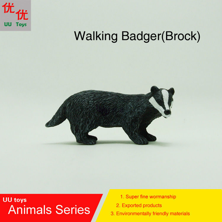 Simulation-Model Hot-Toys:walking Kids Toys Brock Animals Children Badger Educational-Props