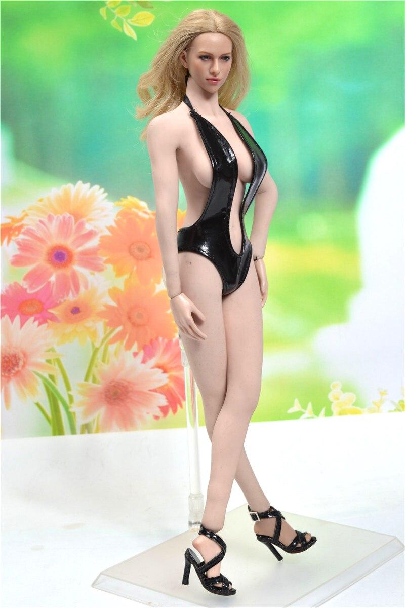 1//6 Scale Female Black Swimsuit Underwear Bikini For 12/'/' Phicen Figure Body Toy