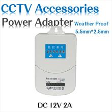 Hiseeu power adapter Outdoor Waterproof Converter switching Supply 100-240V AC Input DC 12V 2A output Box For Security Camera