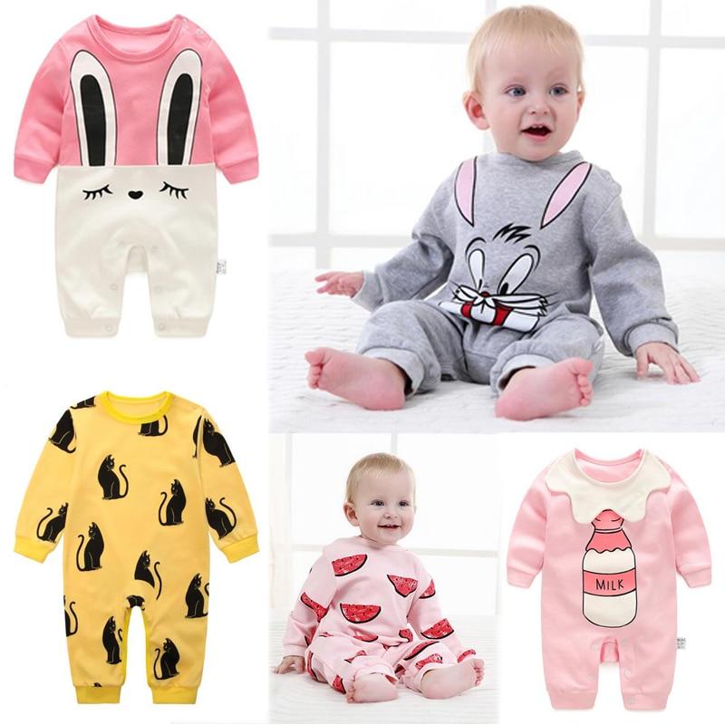 2018 ropa de bebé recién nacido una pieza del mameluco del bebé pijama ropa de bebés bebés niños muchachos monos bebés vestido de bata
