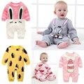 Pijama terno do bebê recém-nascido romper do bebê primeiro ano de aniversário crianças roupas roupas de bebê da menina do algodão bow-knot meninos macacões de bebê meninas vestir