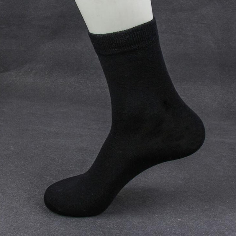 High Quality Casual Men's Business Socks For Men Cotton Brand Crew Autumn Winter Black White Socks Big Size Middle Tube Socks