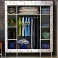 Кабинет семейство продуктов шкаф ткань гардероб просто жирный трубы , чтобы увеличить пространство из трех рядов шкаф гардероб 161108D-2