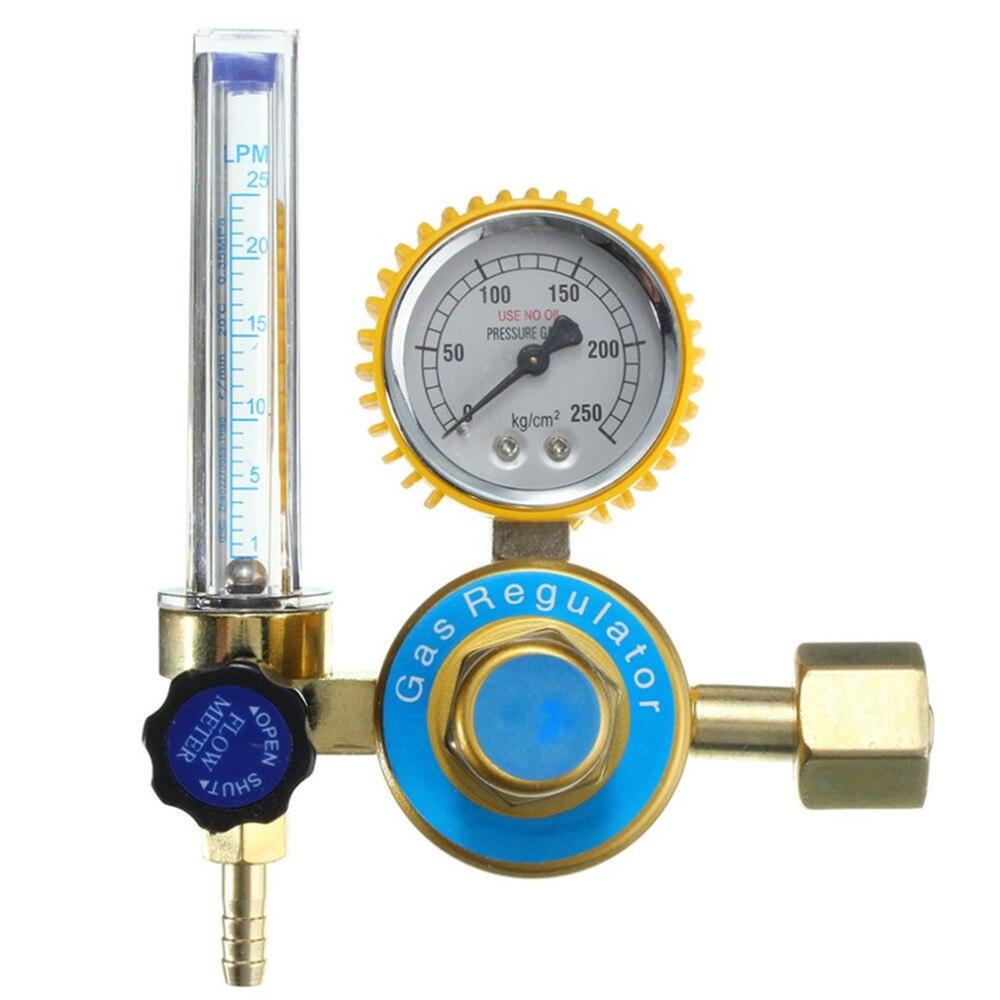 Gas Regulator Argon CO2 Mig Tig Flow Meter Control Welding Weld Regulator Gauge For Welder Power Tool CGA580 High Quality