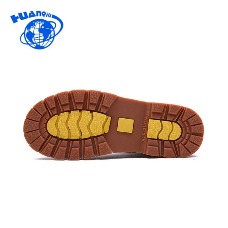 e8b0a6e73e514 Qualité En Haute coffee Bottes Cuir jaune Chaussures De D hiver Huanqiu  Véritable Travail Hommes Brown ...