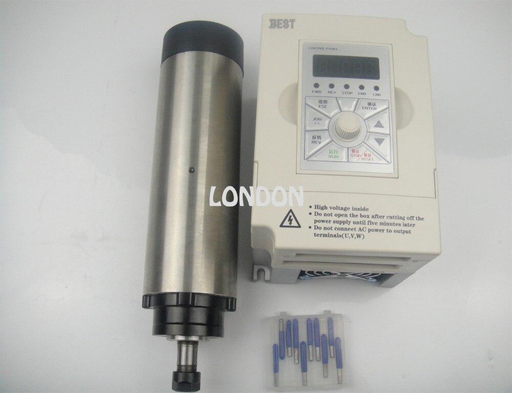 Kit mandrino CNC ER11 800w motore mandrino raffreddamento aria + inverter 1.5KW + punte per incisione cnc