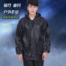 Summer men and women split raincoat rainy day job fishing male raincoat free size rain covers