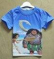 Моана ChildrenBoys Девочек дети Футболка мультфильм костюм для детей одежда с коротким рукавом детская одежда девушки парни топы H640