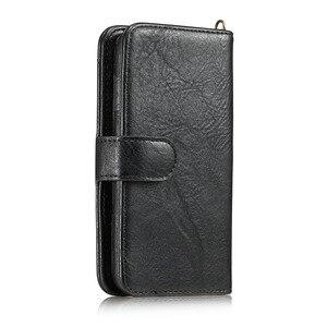 Image 3 - Haissky יוקרה Flip עור מקרה עבור iPhone 6 7 8 X ארנק Flip מקרה עבור iPhone 6 7 8 בתוספת כרטיס חריצי טלפון כיסוי Coque קאפה
