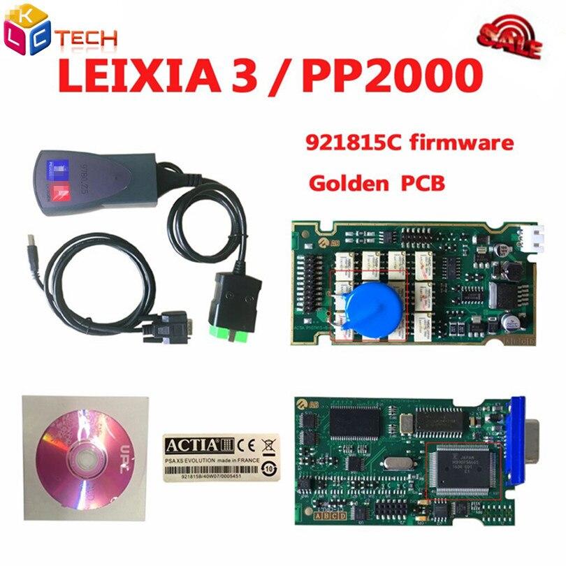 Цена за Новые Хорошее качество доска Lexia PP2000 V48/V25 Lexia 3 Diagbox Lexia3 с 921815C прошивки золотой pcb Lexia-3 инструмент диагностики