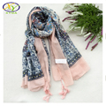 180*100cm 2016 Autumn New Design Floral Polyester Cotton Women Long Scarf Woman New Viscose Big Size Shawls Pashminas