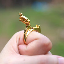 Takerlama Unisex 1 Piece Superheroes The Flash Reverse Flash Finger Rings Gold Plated Cosplay Props Gift Halloween Party Cosplay(China)