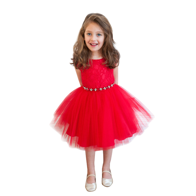 25c65945c Toddle Kids Girl Princess Party Dress Flower Embroidery Wedding ...