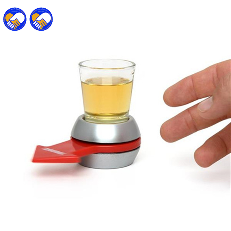 A toy A dream Spin The Shot Glass Drinking Game Fun Party Gifts,Turntable Toys Drinking Game With Spinning Wheel Bar Games falling tumbling monkeys fun party games