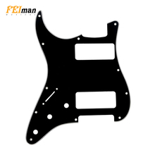 Pleroo Guitar accessories Left Handed pickguards 11 hole for Standard ST HH Stratocaster with P90 humbucker Scratch Plate