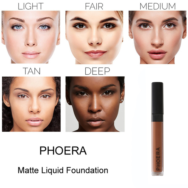 PHOERA de la cubierta completa Pro maquillaje Corrector crema rostro Corrector líquido hacer Base por ojo oscuro círculos estética Facial TSLM2
