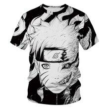 Casual Hip Hop Womens/Mens t shirt Anime Naruto Short Sleeve Funny Print T-Shirt Summer Tops Tees S-