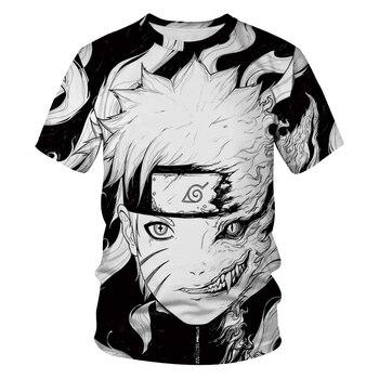 Casual Hip Hop Womens/Mens t shirt Anime Naruto Short Sleeve Funny Print T-Shirt Summer Tops Tees S- made in 87 mens t shirt 13 colours 29th birthday present gift 1987 print t shirt mens short sleeve hot tops tshirt