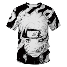 Casual Hip Hop mujeres/Mens t camisa Anime Naruto Akatsuki manga corta divertido 3D camiseta de verano s-2XL