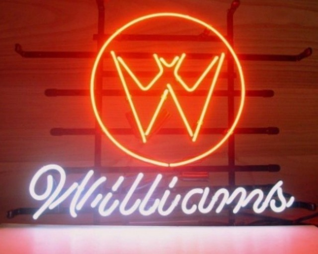 Custom WILLIAMS PINBALL Glass Neon Light Sign Beer Bar