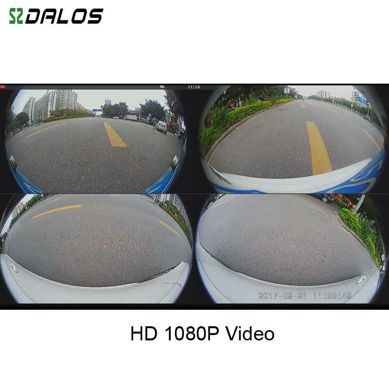 SZDALOS для SUV HD 360 градусов 3D объемное Вождение птица вид панорама с 4 камерой автомобиля 1080 P рекордер