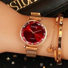 7ece01bdb49 Mulheres relógios Gogoey Mulheres Clássico de Quartzo de Aço Inoxidável  Relógio de Pulso Pulseira Relógios Ladies