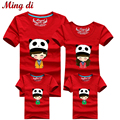 Ming Di 2016 Family Look Fashion Family Matching Clothes Short Sleeve T Shirt Tops Mother Daughter Outfits Father Son Clothes