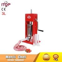 Food Machine 3L Big Sausage Maker Manual Sausage Stuffer Machine Making Filling Vertical Sausage Filler Meat