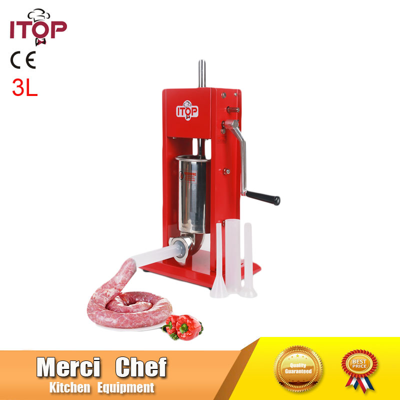 Food Machine 3L Big Sausage Maker Manual Sausage Stuffer Machine Making Filling Vertical Sausage Filler Meat Processor mb barbell мв 2 27 grey