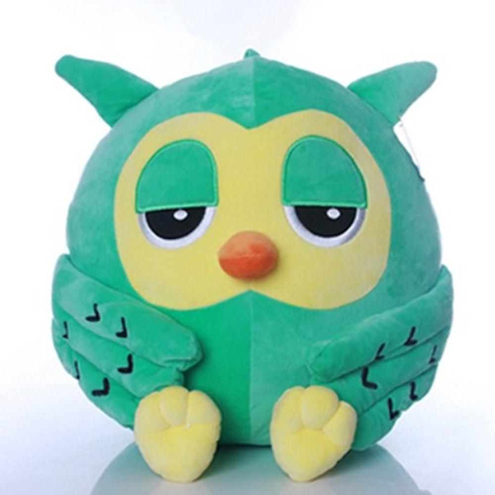 45cm The Heirs Owl Plush Warm Hold Pillow Cushion (green) Winter Cute Hand Warmer customizable gift 1pc kids cute gift winter cartoon plush toys hand warmer cartoon animals soft pillow hand hold warm christmas cushion gift 45