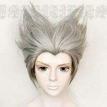 Аниме ONE PUNCH-MAN GAROU Косплей парики серебристо-серый кудрявый смешанный Синтез волос парик дети взрослые косплей аксессуары Новинка