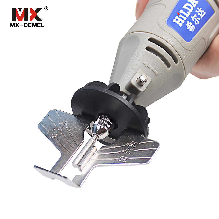 MX-DEMEL Saw Sharpening Attachment Sharpener Guide Drill Adapter Dremel Style Drill Rotary Mini Drill Power Tool Accessories Set