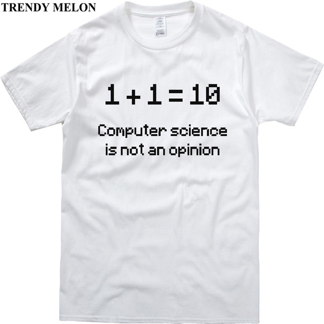 Trendy Melon Casual Funny T Shirt Men Computer Science Binary Tshirt