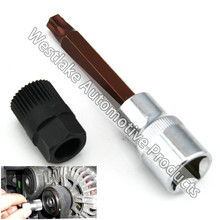 T50 Alternatore Puleggia Socket Bit Con 33 Denti Strumento Alternatore Puleggia Puller Remover Presa