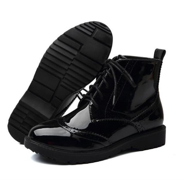 Platform Oxfords British Style Cut-Outs Women Boots Size 35-40