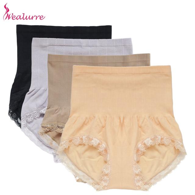 2909d9b9d3ef Wealurre Sexy Seamless Woman Underwear Panties High Waist Lace Spandex Nylon  Panties Black Female Underwear Body