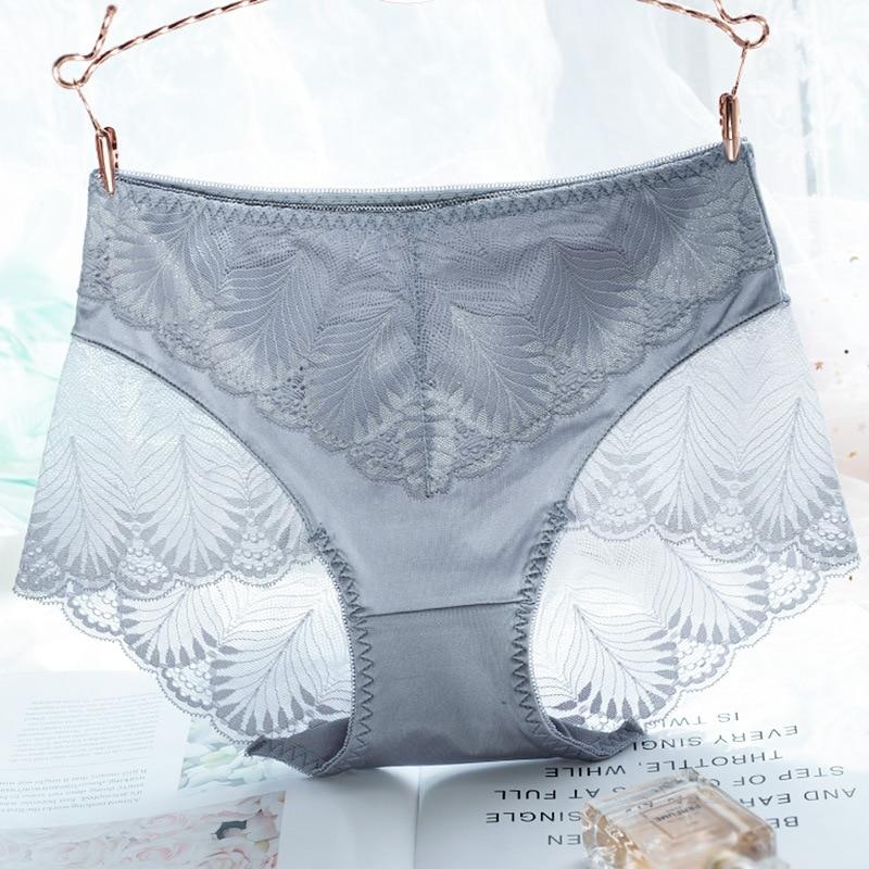 2937a0613b8dd 3PCS Lot Ultra Soft Women Panties Seamless Transparent Briefs 100% Cotton  Crotch Sexy Lace Design Underwear Women Ladies Panty