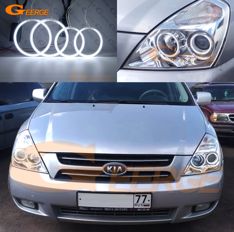 For Kia Carnival 2006 2007 2008 2009 2010 2011 2012 2013 2014 Excellent CCFL Angel Eyes kit Ultra bright illumination Halo Ring for kawasaki zx10r 2006 2015 2007 2008 2009 2010 2011 2012 2013 2014 red