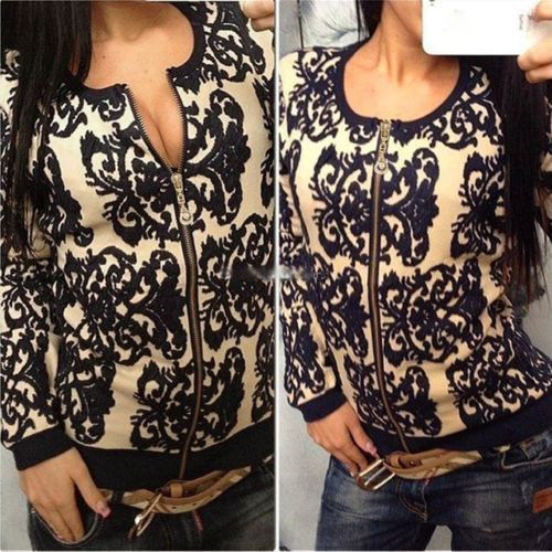 Women Vintage Pattern Knitted Sweater Batwing Sleeve Tops Cardigan Outwear Coat E6172