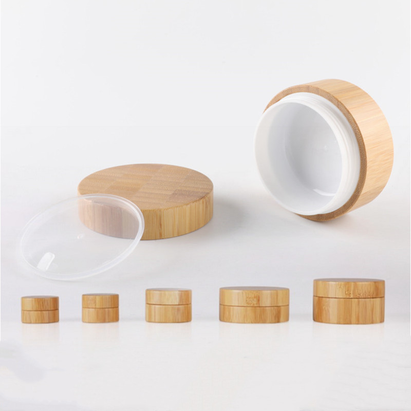5g 10g High Qualtiy Natural Bamboo Bottle Cream Jar Nail Art Mask Refillable Empty Cosmetic Makeup Container