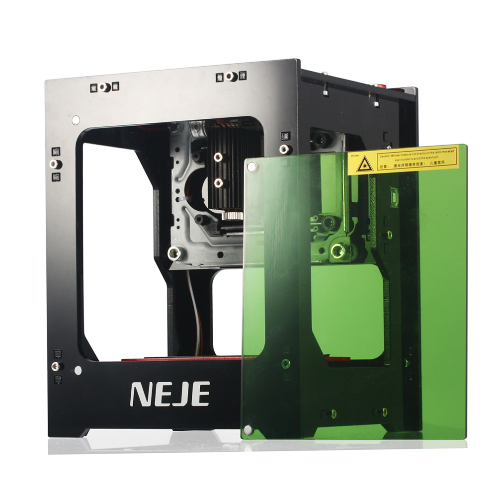 NEJE 1000mW Automatic DIY Print laser engraver High Speed mini USB Engraving Machine Off-line Operation with Protective Glasses mini kompas sleutelhanger