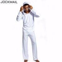 JOCKMAIL Men Pajama Sets Lounge Home Sleepwear mens through shirts tank top Men's Hoodies and lounge pants men pajama bottoms
