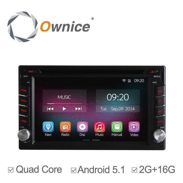 Quad Core Android 5.1 Car DVD Player Universal 2 Din GPS For Tiida Qashqai Sunny X-Trail Paladin Frontier Patrol Versa Livina 2G