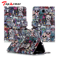 TopArmor Для Samsung Galaxy Tab E 9.6 T560 T561 Случае роскошные Красочные PU Кожаный бумажник Протектор Tablet обложка Для Samsung T560