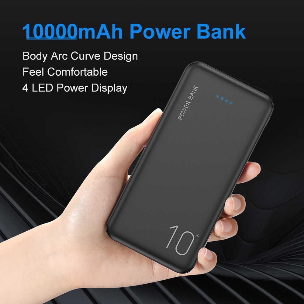 Cargador portátil FLOVEME de 10000 mAh para Samsung Xiaomi mi, batería externa de 10000 mAh, teléfono Poverbank