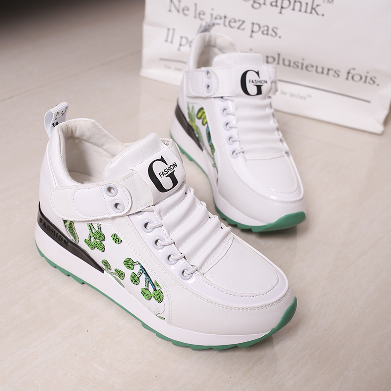Madame embroideRouge  for   increasing wedges tenis increasing  2018 Kjstyrka 675e11