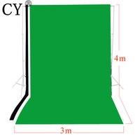 CY фотография, фото фон 3 м x 4 м твердой черный, белый цвет зеленый Экран муслин набор фоновых изображений фоновая фотография на заднем фоне На