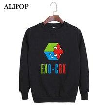 ALIPOP Kpop Корейской Моды EXO CBX Альбом Hey Mama BAEKHYUN ЧЕН XIUMIN Хлопок Розовый Толстовки Одежды Пуловеры Кофты PT294