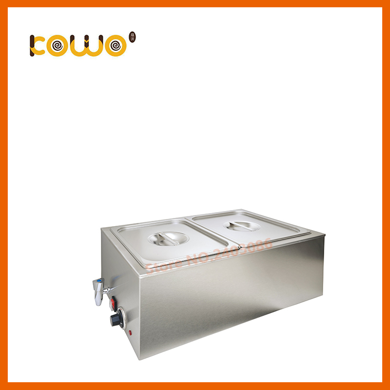 Professional stainless steel 12L/tank capacity electric food warmer display commercial 2 pan bain marie for catering equipment et 262