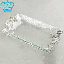 Fashion rectangle fruit plate quality compotier teapot glass pallet